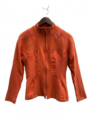 Issey Miyake Orange Cotton Jacket for Women Vintage