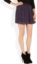 Karl Lagerfeld Sidonie leopard-print chiffon mini skirt