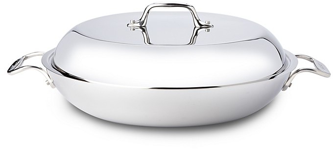 All-Clad Stainless Steel 4 Quart Braiser with Lid