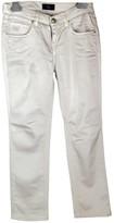 Fay Beige Silk Trousers for Women