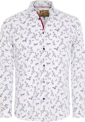 Johnny Bigg Wesley Regular Fit Floral Stretch Button-Up Shirt