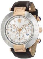 Versace Men's VA8120014 REVE CHRONO Analog Display Quartz Brown Watch