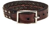 Tommy Bahama Split Rivet Leather Bracelet