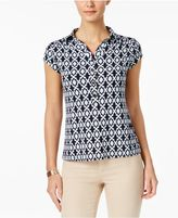 Charter Club Print Polo Top, Created for Macy's