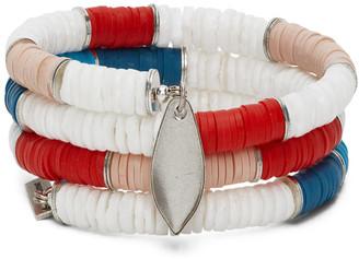 Isabel Marant Pink and White Shell Wrap Bracelet