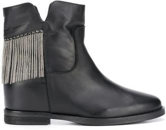 Via Roma 15 Fringe Ankle Boots