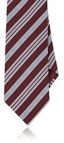 Giorgio Armani Men's Striped Necktie-BURGUNDY