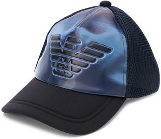 Emporio Armani Raised Logo Baseball Cap