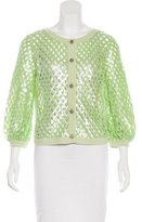 Chanel Sequined Cashmere Cardigan