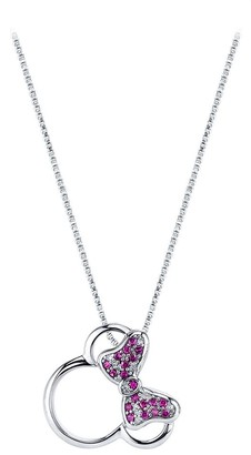 Disney Minnie Mouse Icon Diamond and Ruby Necklace