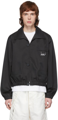 Xander Zhou Black Cuffed Jacket