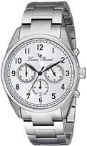 Lucien Piccard Men's LP-10588-22S Moderna Analog Display Japanese Quartz Silver-Tone Watch