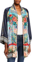 Johnny Was Petite Tropical Reversible Button-Front Kimono