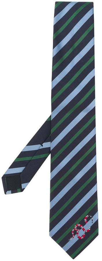 Gucci Striped Kingsnake tie