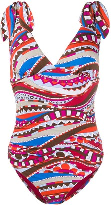 Emilio Pucci Abstract Print Swimsuit