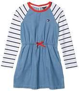 Tommy Hilfiger Denim Raglan Sweatshirt Dress (Big Kids) (Nicole Wash) Girl's Dress