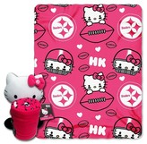 Hello Kitty NFL Pittsburgh Steelers Blanket and Hugger Bundle (40 x 50 )