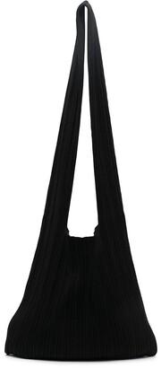 Sminfinity Pleated Silk-Blend Crossbody Bag