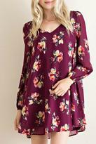 Entro Floral Trapeze Dress