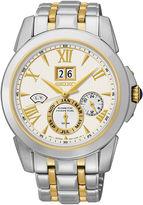Seiko Mens Kinetic Perpetual Two-Tone Watch SNP066