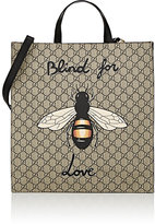 Gucci Men's Bee-Print GG Supreme Tote Bag