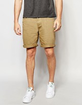 Pull&bear Denim Shorts In Tan In Regular Fit