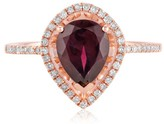 Effy Jewelry Effy Bordeaux 14K Rose Gold Rhodolite Garnet and Diamond Ring, 1.46 TCW