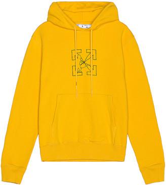 Off-White OW Logo Workers Slim Hoodie in Yellow & Black | FWRD