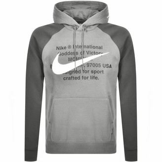 Nike Swoosh Pullover Hoodie Grey