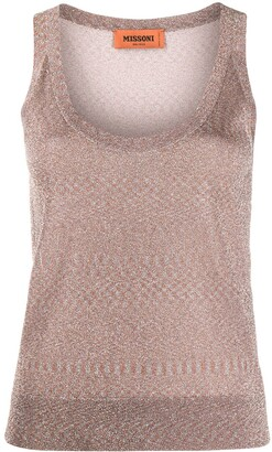 Missoni Scoop-Neck Knitted Top