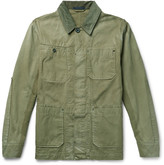 Lanvin - Corduroy-trimmed Washed Cotton-twill Field Jacket