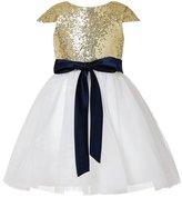 PHSOAR Sequin Tulle Cap Short Sleeve Flower Girl Dress Little Girl Toddler Dresses 12M