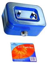 Ashley BB-CB110 4-1/2 Inch Cash Box, Red/Blue