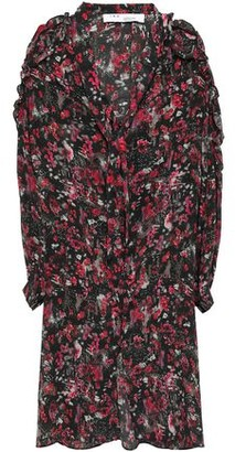 IRO Equip Cutout Printed Silk-crepe Dress