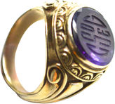 One Kings Lane Vintage Antique Amethyst Intaglio Ring