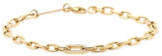 Zoë Chicco 14K Yellow Gold & Diamond Medium Square-Oval Link Bracelet