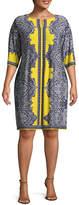 Studio 1 Elbow Sleeve Paisley Sheath Dress - Plus