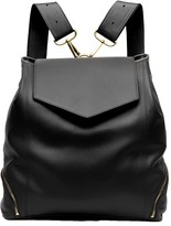 The Professional Leather Backpack Purse In Black