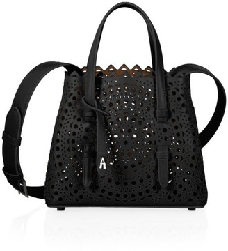 Alaia Mini Mina Perforated Leather Tote