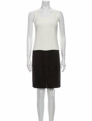 Alexander Wang Colorblock Pattern Knee-Length Dress Black