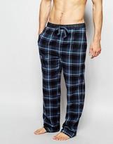 Bjorn Borg Regular Fit Flannel Lounge Pants In Lumberjack Check - Black