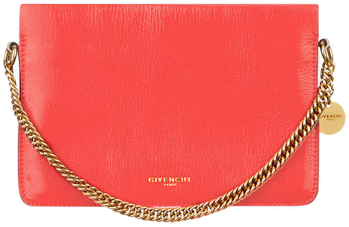 Givenchy Leather Crossbody Bag in Poppy Red & Sand | FWRD