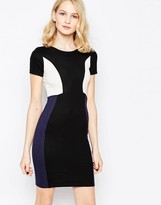 French Connection Color Block Manhattan Pencil Dress