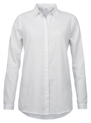 Ya-Ya White Cotton Blend Shirt - 36