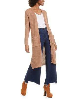 Planet Gold Juniors' Lace-Up Open-Front Duster