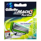 Gillette Mach 3 Turbo - Sensitive 4 pack