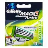Gillette Mach 3 Turbo - Sensitive 4 pack