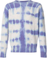 The Elder Statesman tie dye crew neck sweater