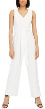 INC International Concepts Inc Bow-Sleeve Crepe Jumpsuit, Created for Macy's