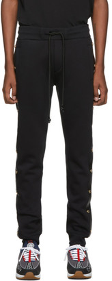 Versace Black Side Stud Jogger Lounge Pants